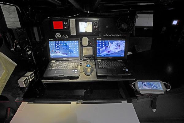 Team SCA's Volvo 65 Interior